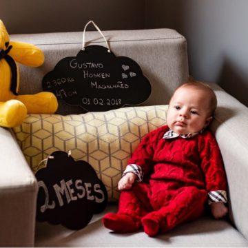 Renata Hosken, Madre de Gustavo de 2 meses